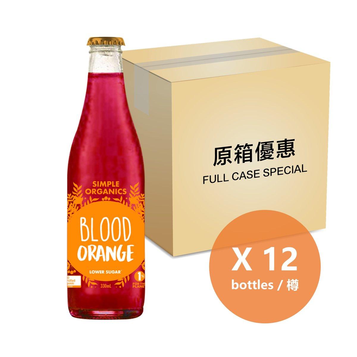 [原箱] 有機血橙梳打 - 325毫升樽裝