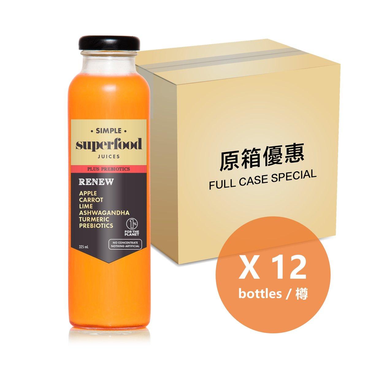 [Full Case] Renew Prebiotic Smoothie - 325ml Bottle