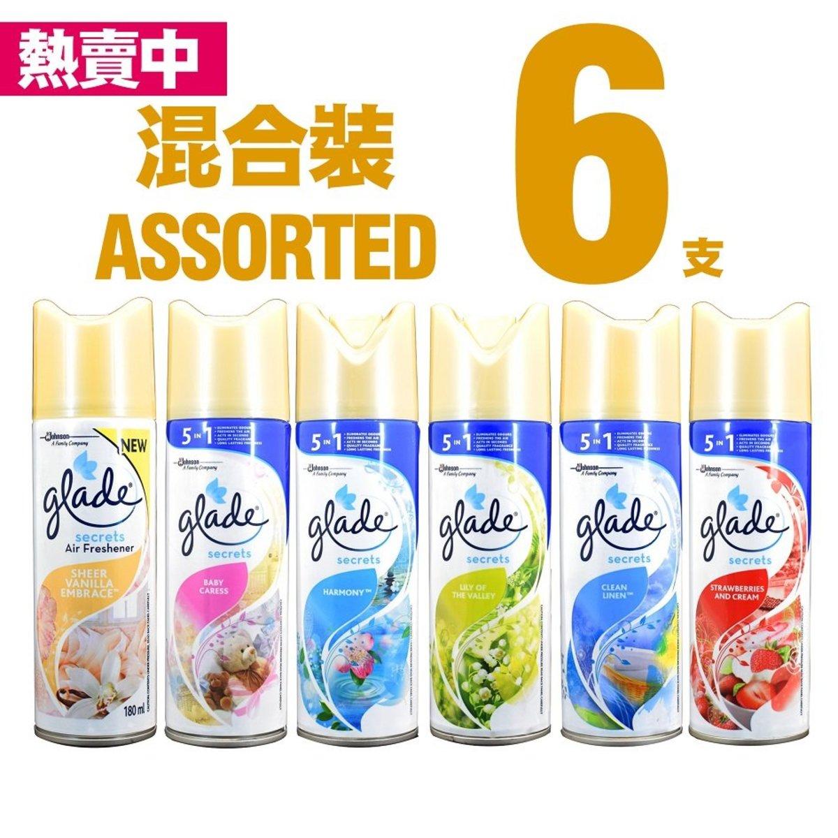 空氣清新劑六支混合裝