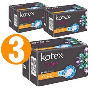 Kotex 高潔絲日用夜用衛生巾 10片裝 3包裝 10 x 3