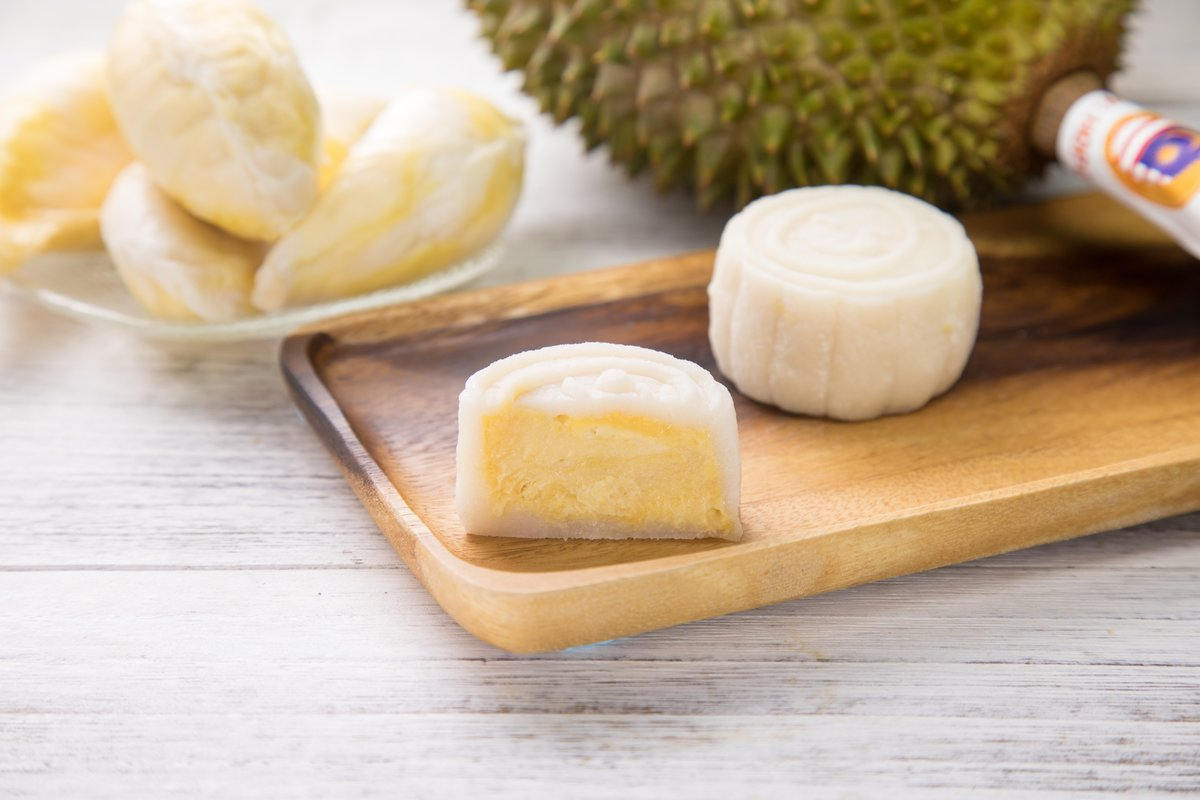 1 Box - Musang King Durian Snowy Mooncake (4 pcs)【Self Pick-up Only】