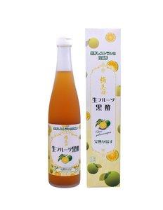 桷志田 日本鹿兒島有機玄米3年熟成黑醋(柑橘味) 500毫升