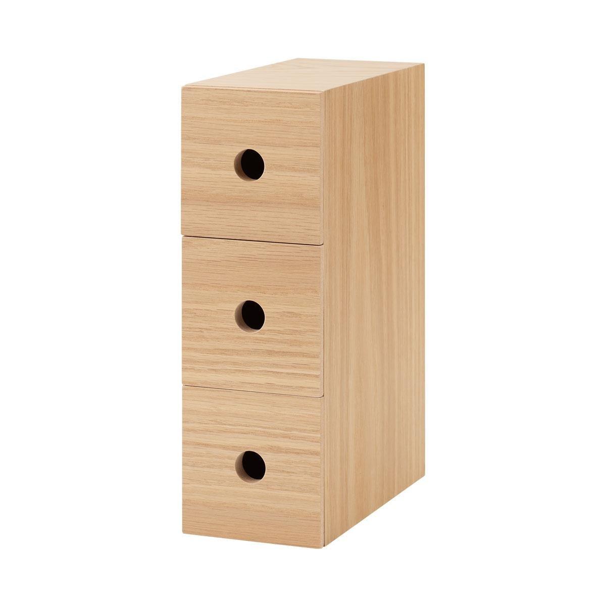 Wooden MDF 3 Drawers Storage