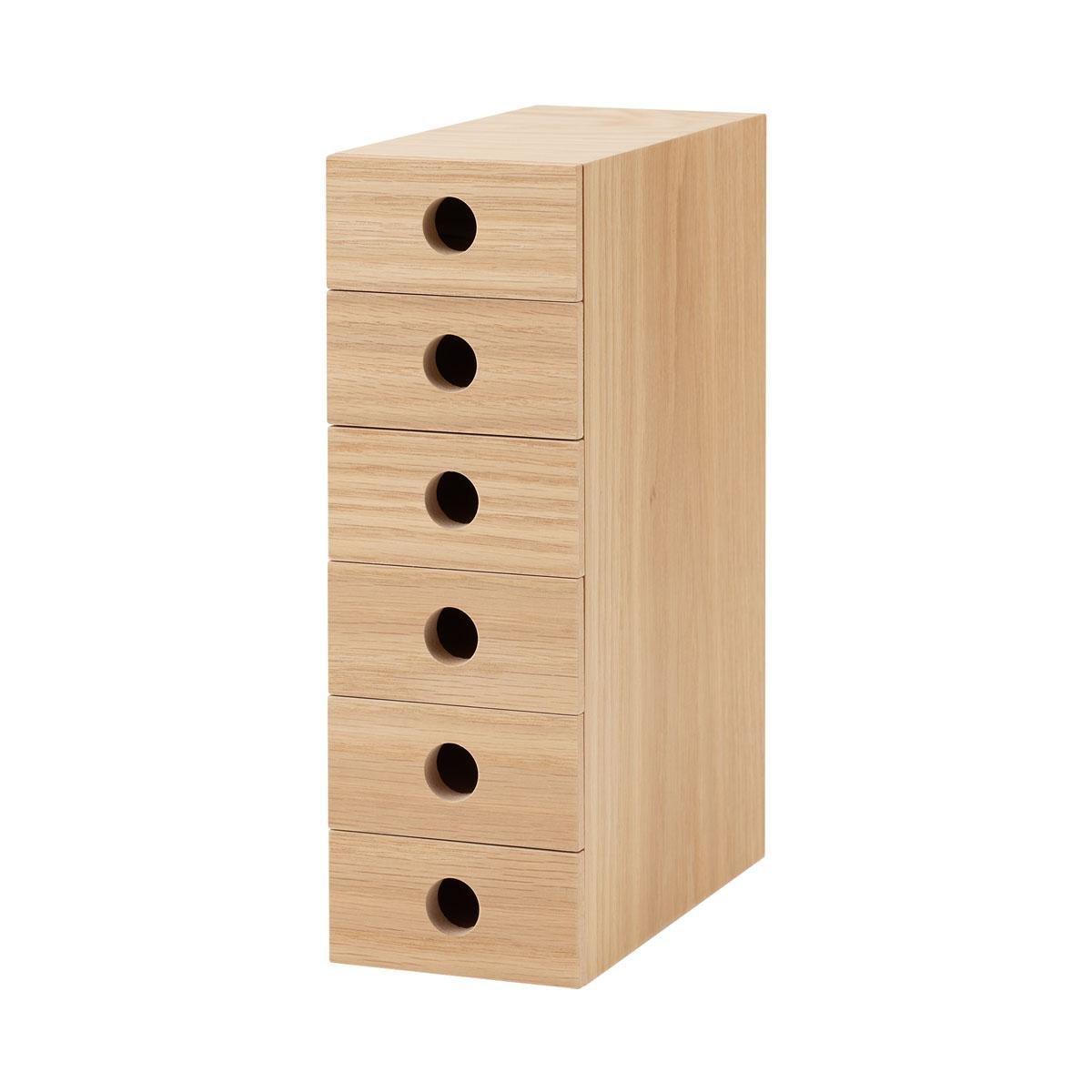 木製MDF六層儲物盒