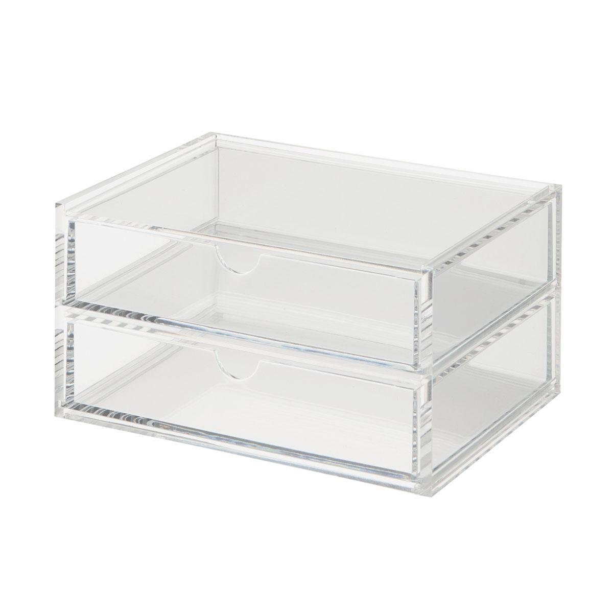 Acrylic Stackable 2-Row Drawer