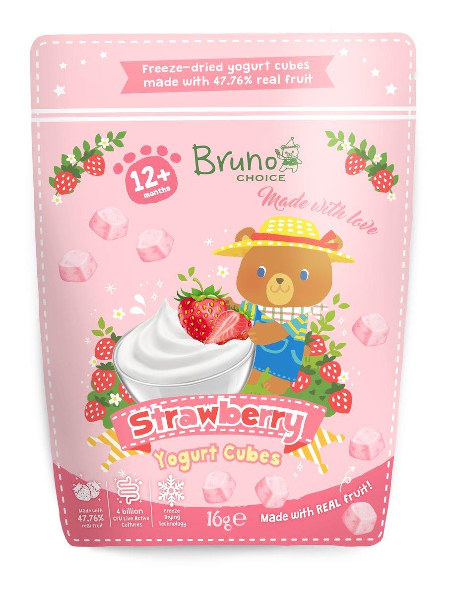 Strawberry Yogurt Cubes 16g