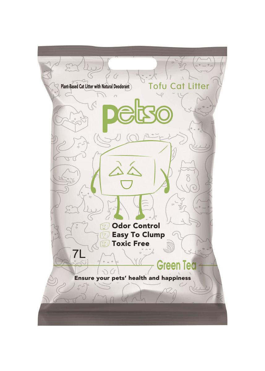 Petso Cat Litter(Greaan Tea)7L*1 Pack