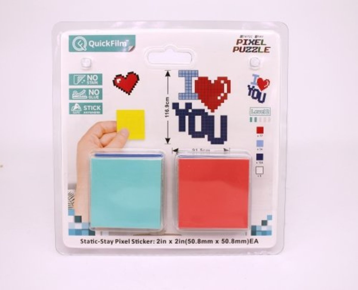Static-stay Pixel Puzzle – I LOVE YOU 02