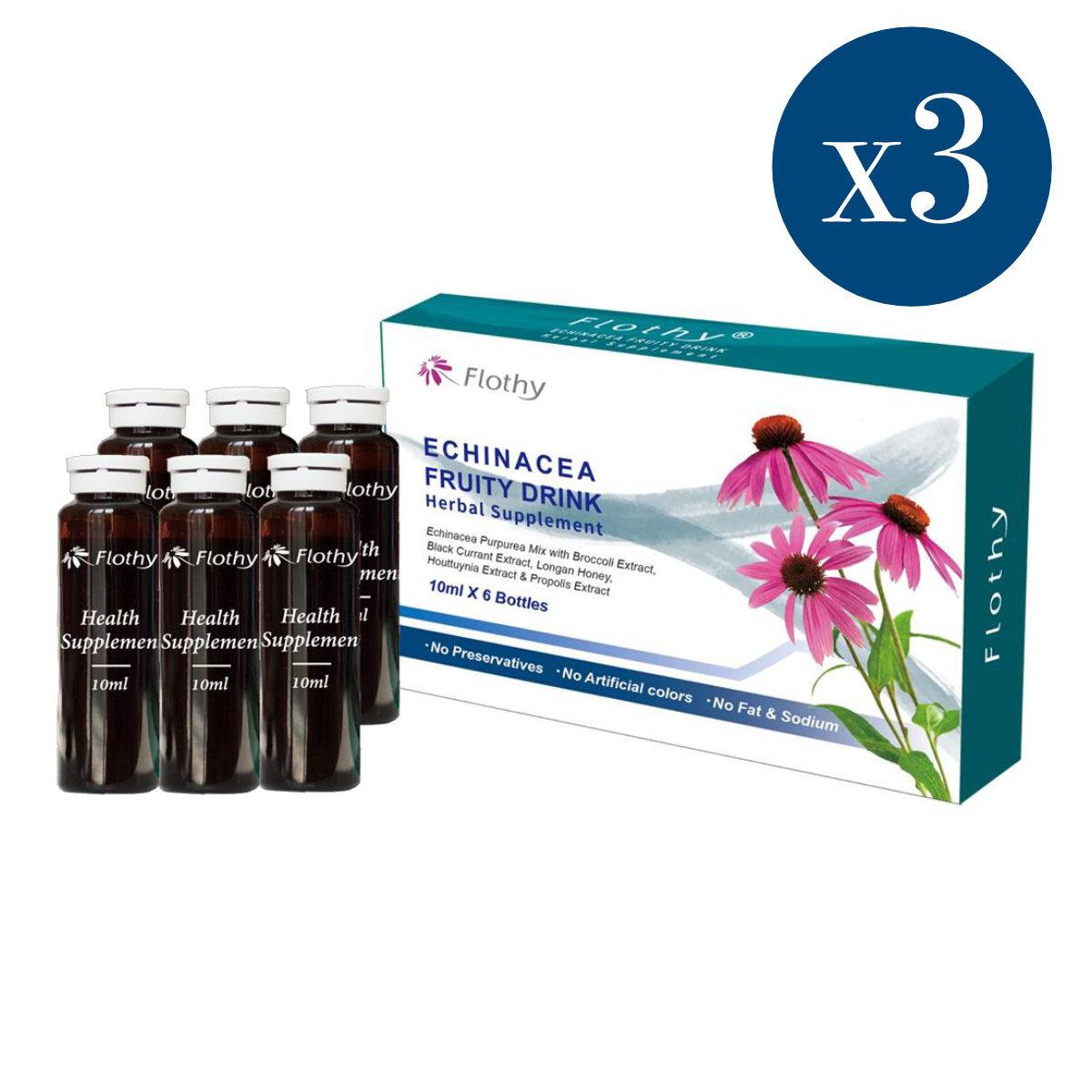 紫錐花天然飲 3盒 (10毫升 x 6)
