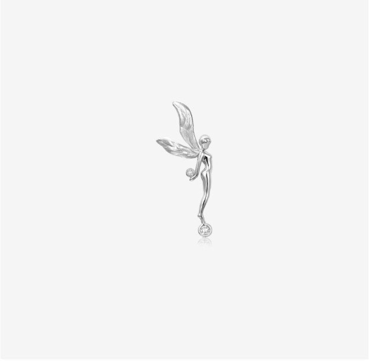 Astra Diamond and 18K White gold Earring