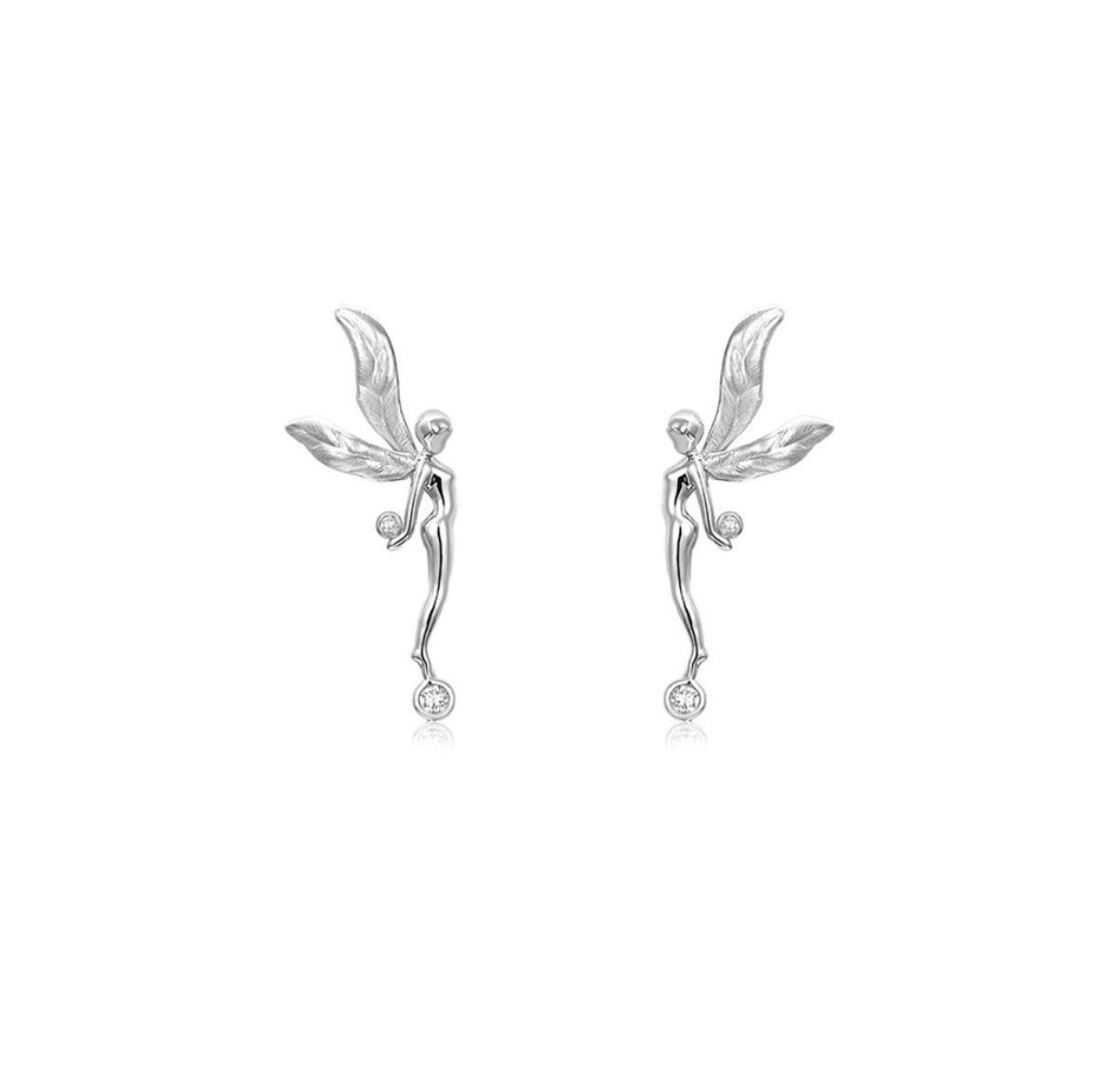 Astra Diamond and 18K white gold Earrings