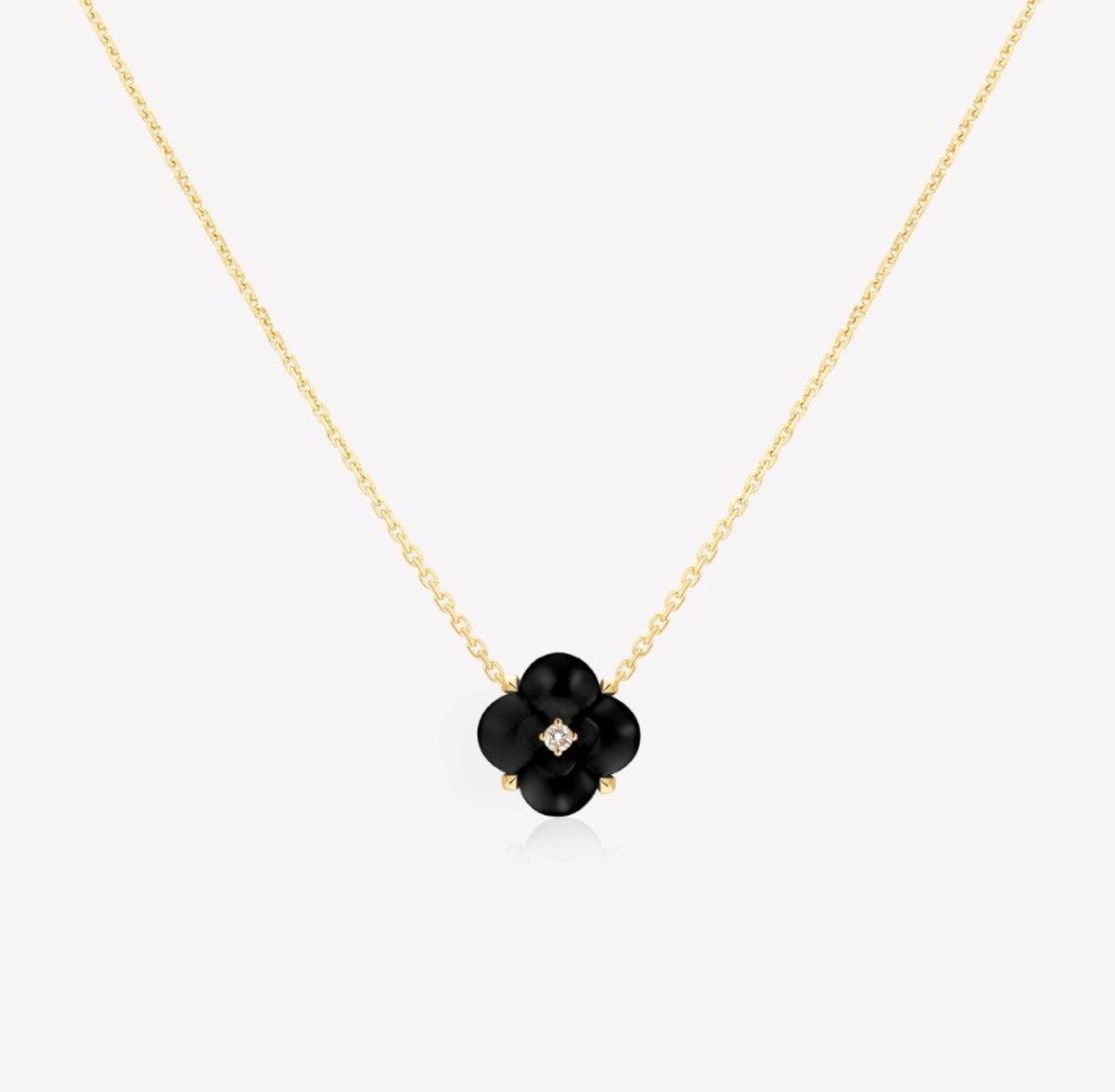 Fontana di Trevi Mini Onyx and Diamond Necklace