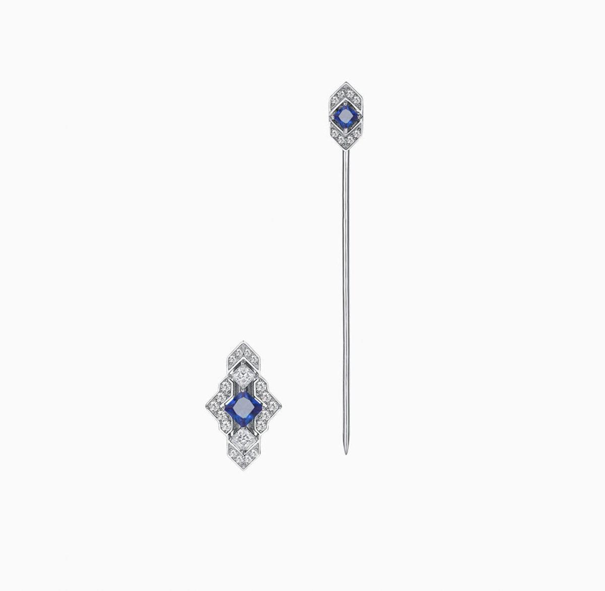 Castle Double wear Earring/Brooch