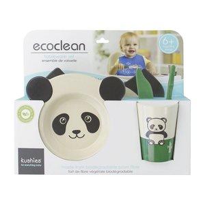Kushies 嬰幼兒環保餐具套裝 (熊貓)