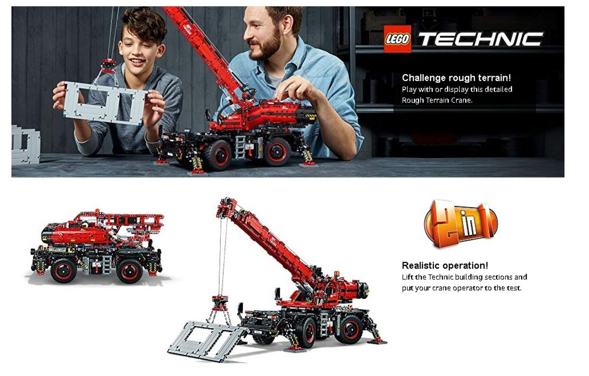 LEGO | 42082 Technic Rough Terrain Crane | HKTVmall Online