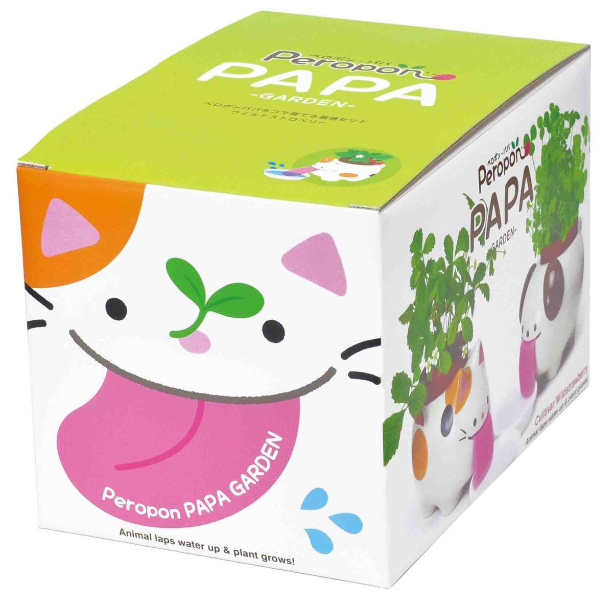 Peropon PAPA 自動吸水小盆栽 - 小貓/野草莓