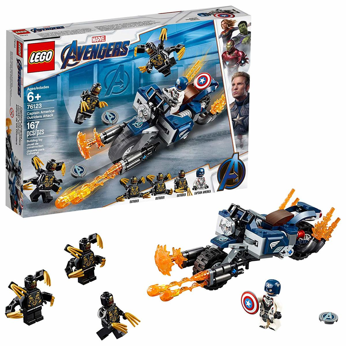 Marvel Superheroes 76123  Captain America: Outriders Attack