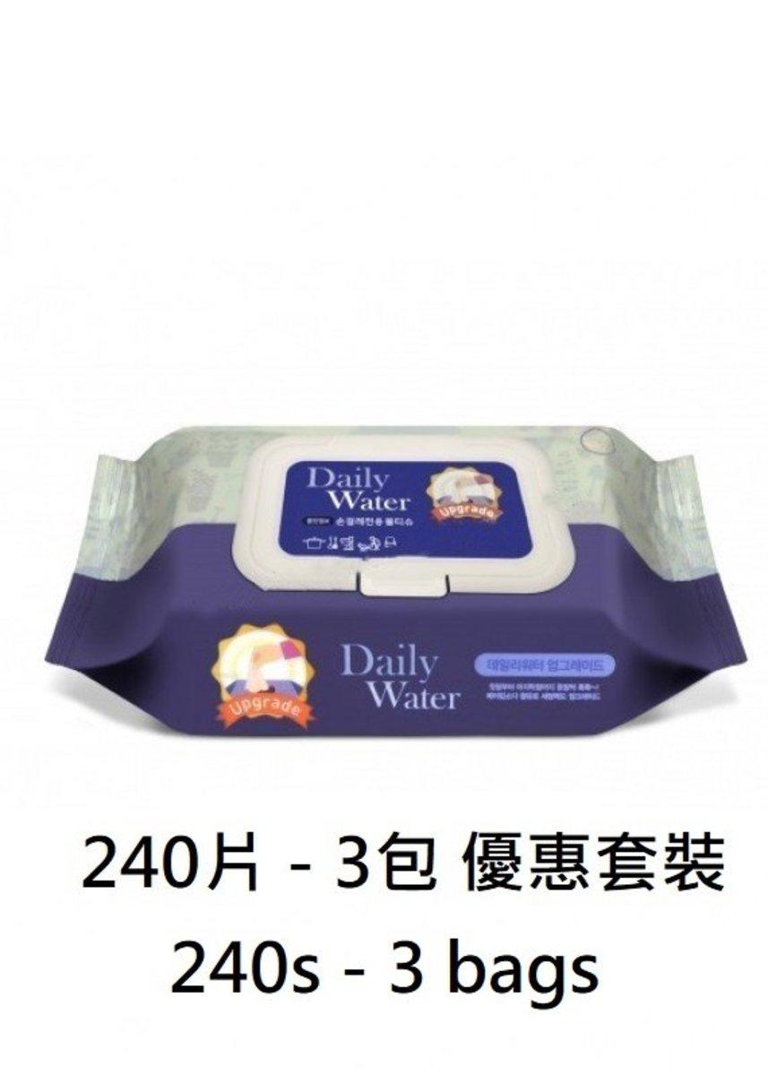 家居清潔濕紙巾 - 3包240片 優惠套裝 (韓國製造)