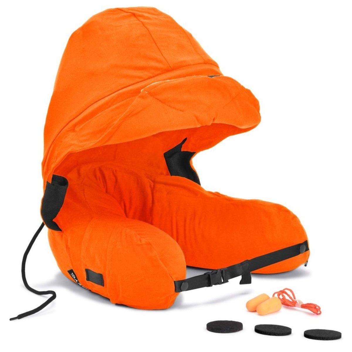 Somnus Travel Pillow ( Quick Inflatable Version ) - Orange