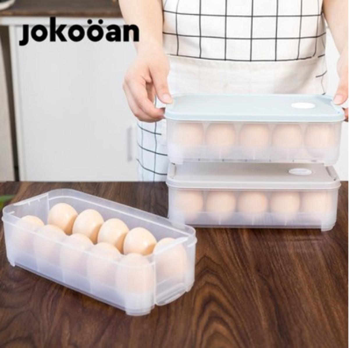 廚房冰箱食物保鮮盒雞蛋盒 灰色  雙層