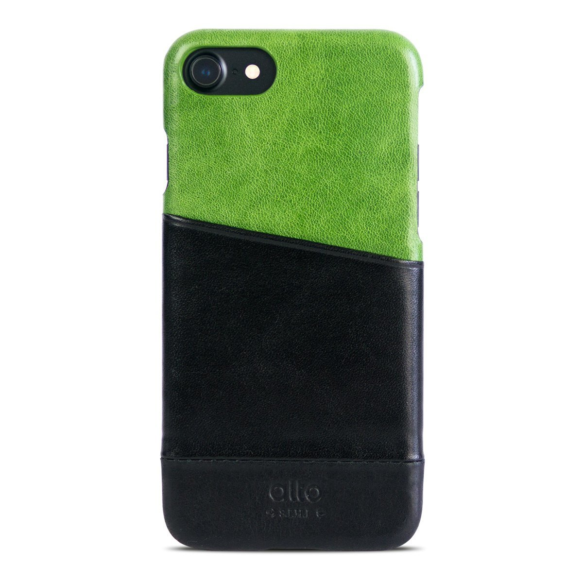 iPhone 8 / 7 Metro Leather Case – Lime/Raven