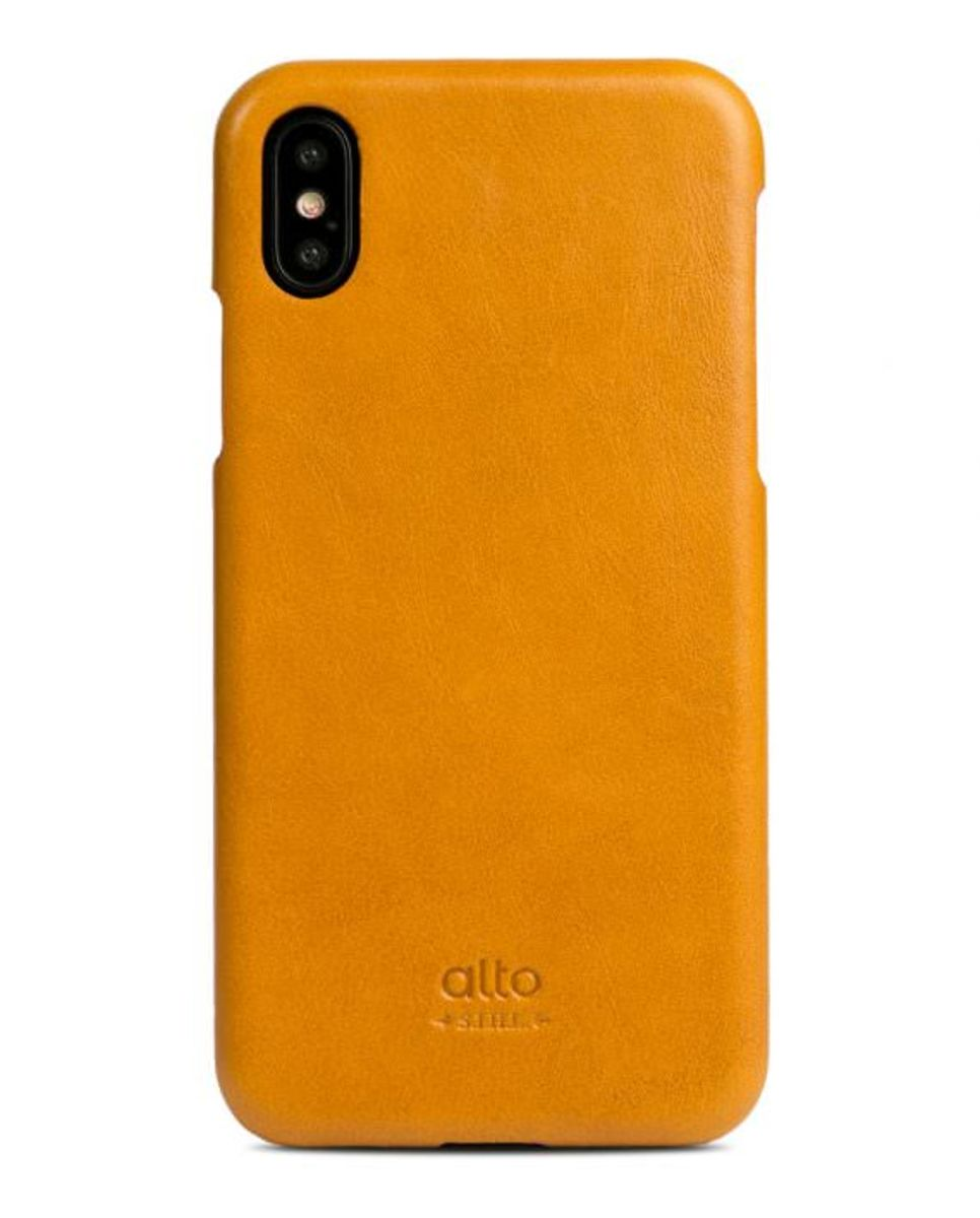 iPhone X Original Leather Case - Caramel Brown