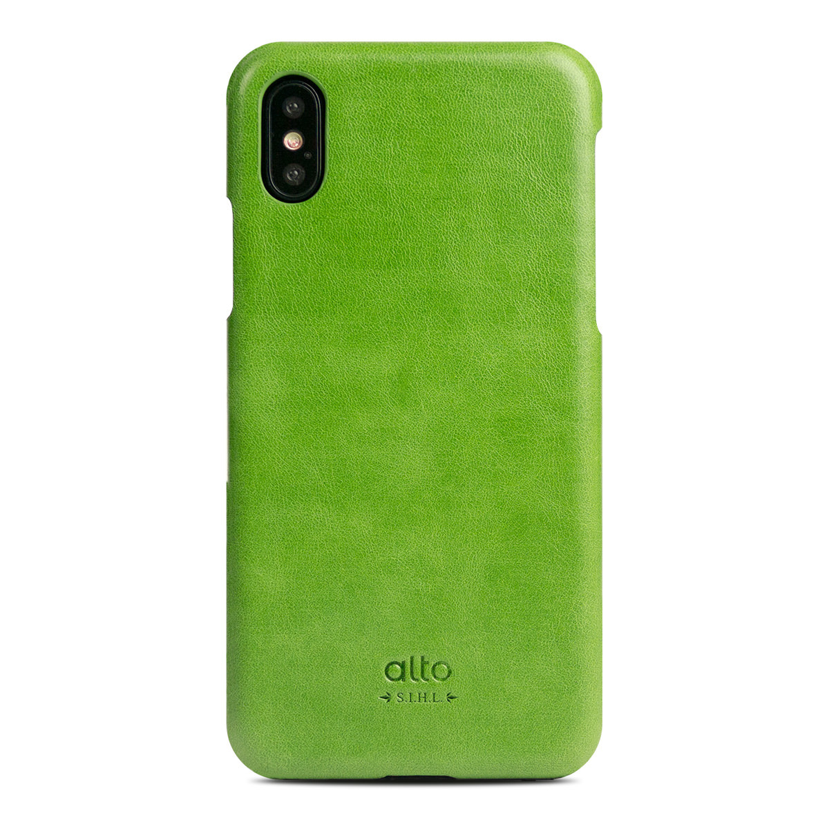 iPhone X Original Leather Case - Lime Green