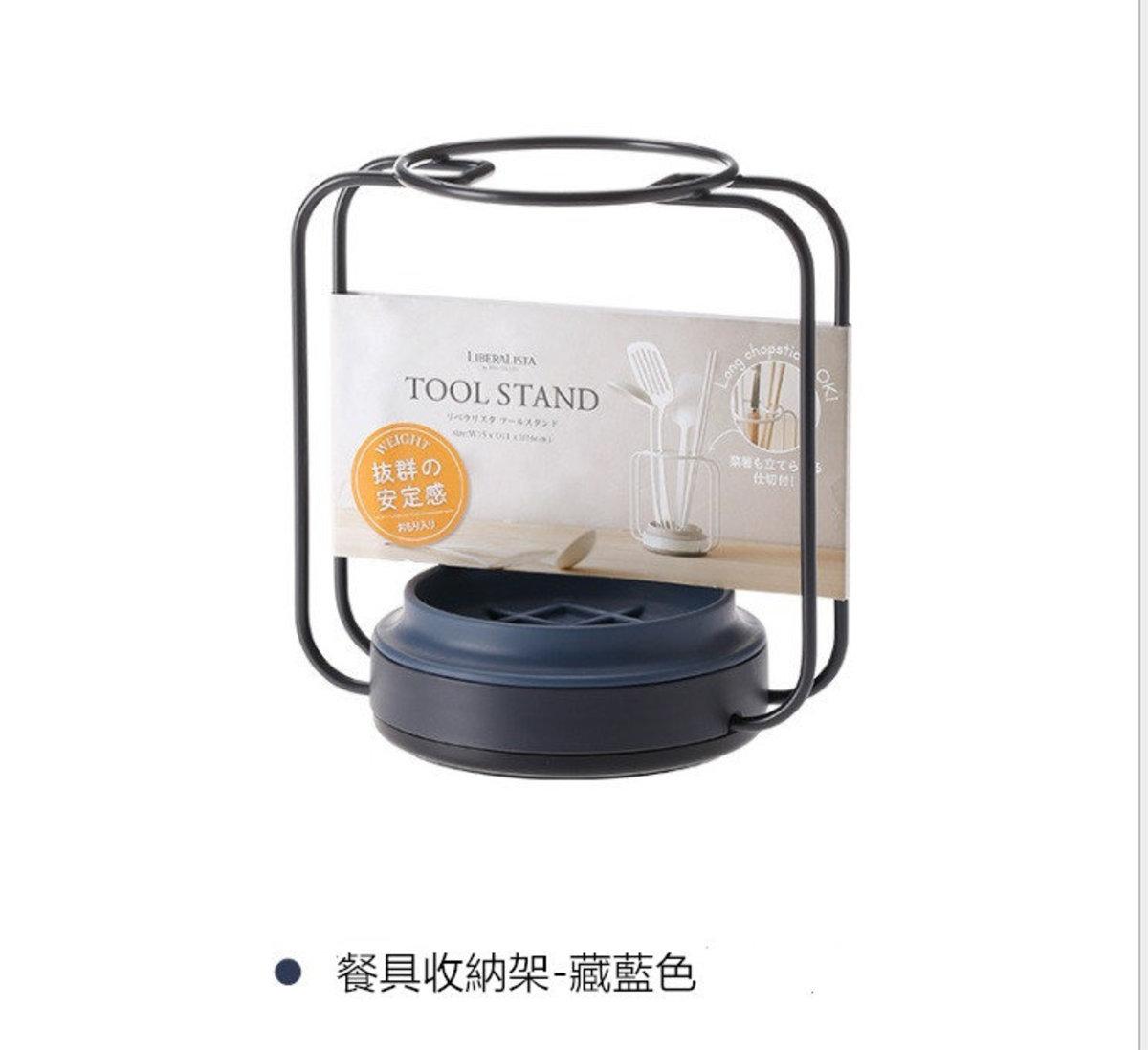 日式廚房檯面收納架  (餐具收納架- 藏藍色)