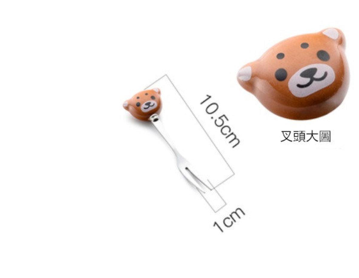 北歐創意水果叉子1件裝(小熊款)