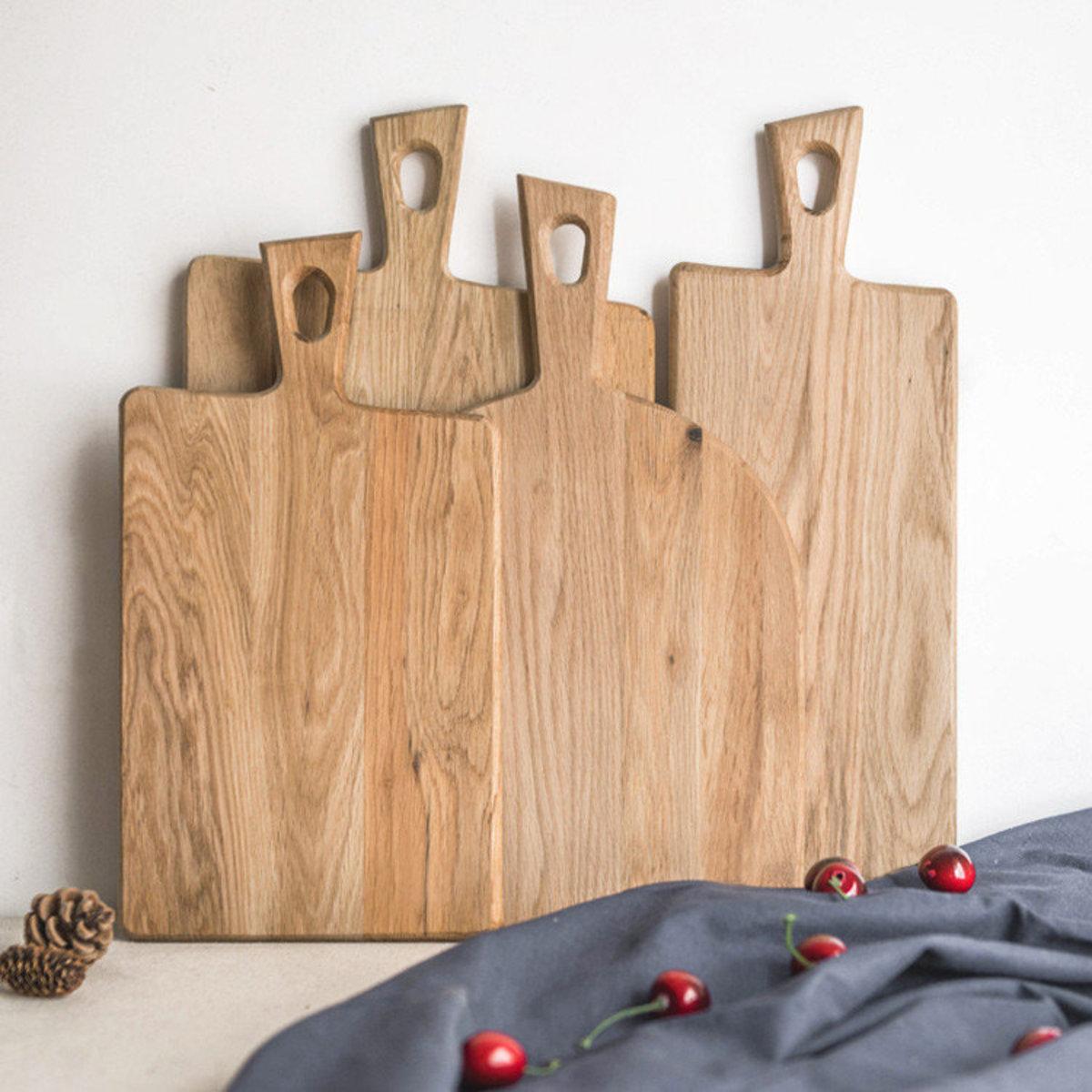 Household solid wood cut cooked food cutting board (semicircular board)
