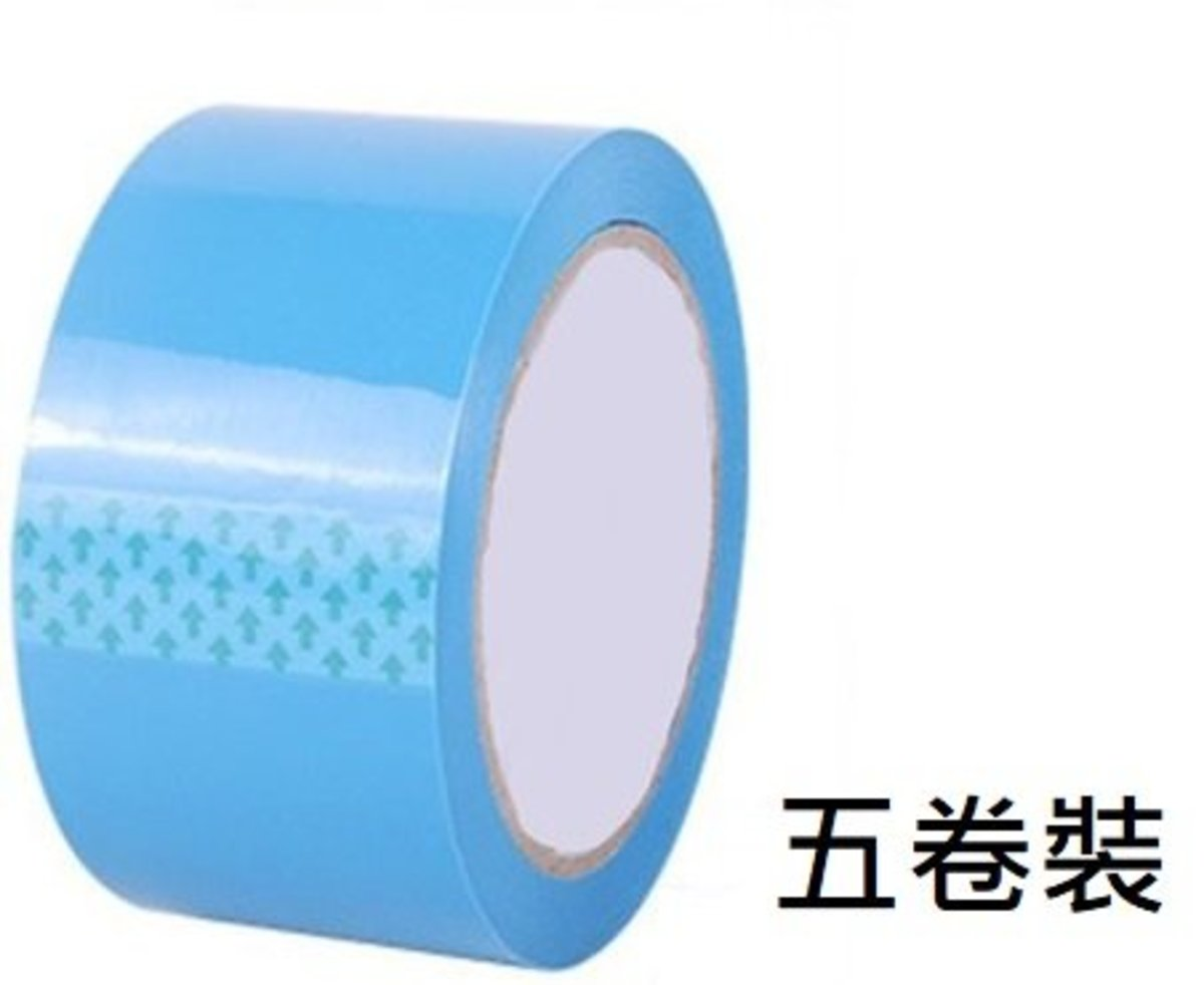 BOPP Tape 5pcs- Blue (60m L x 6cm W)