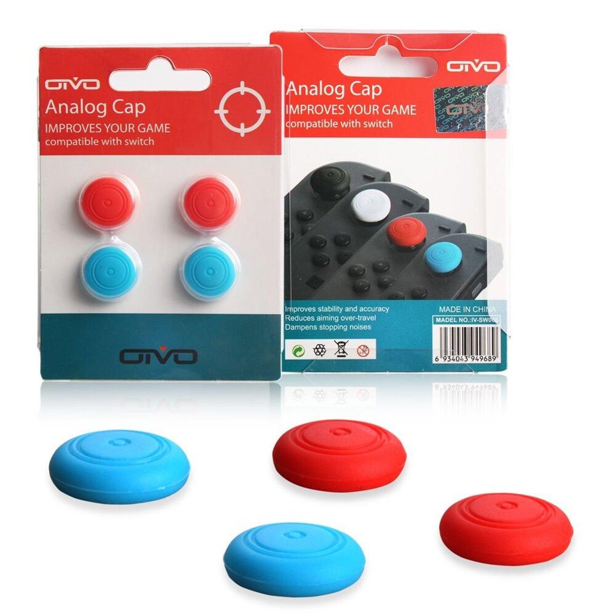 兩對蘑菇頭 (共4顆)  for Nintendo Switch - (2顆紅色 & 2顆藍色)