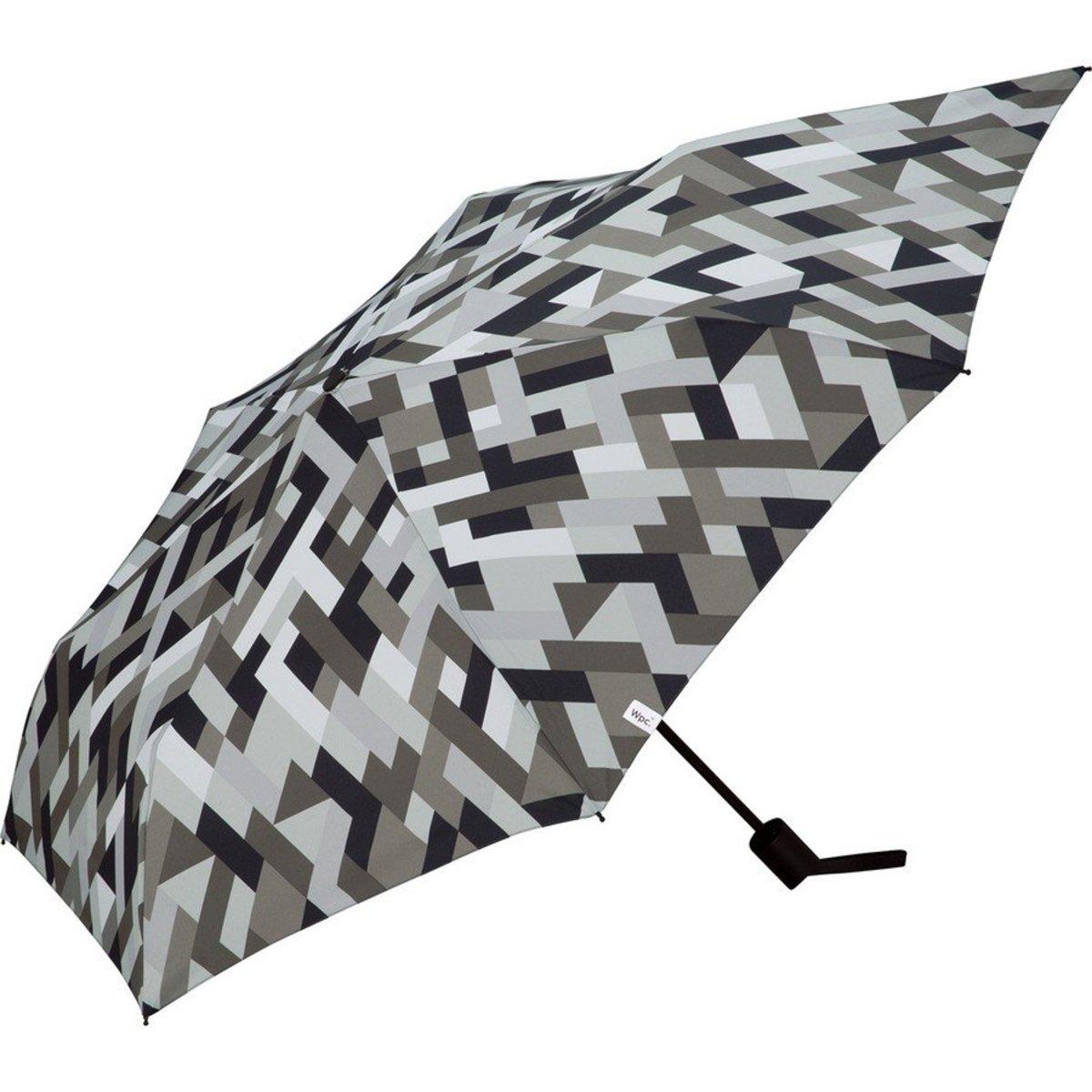 Back Protect Folding Umbrella - Geometry Gray (MSS-056)
