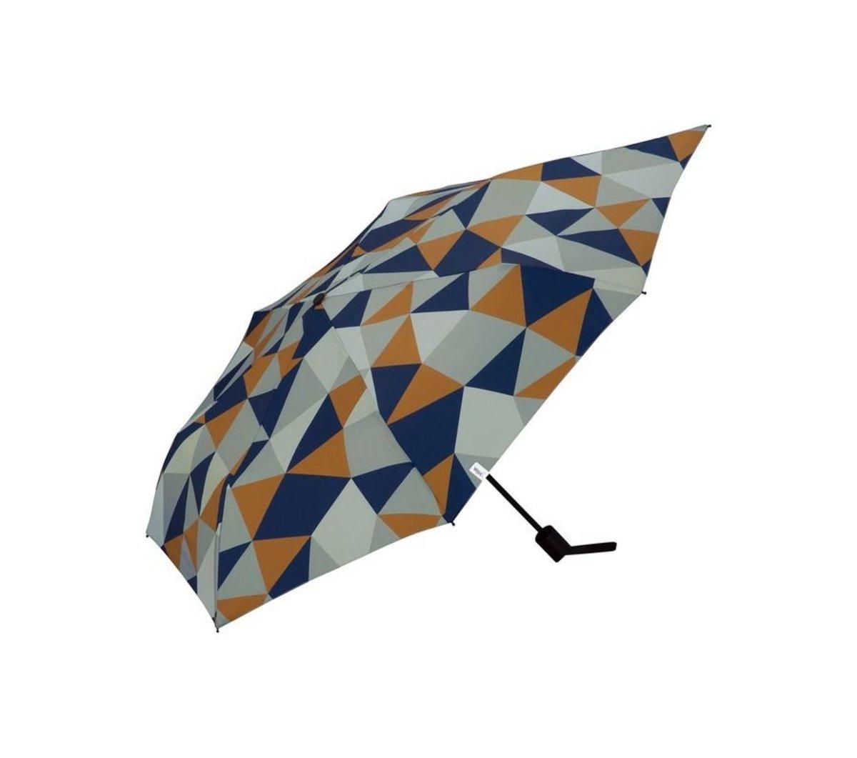 背部延長保護跣水摺雨傘/縮骨遮 - 水晶 (MSS-068)