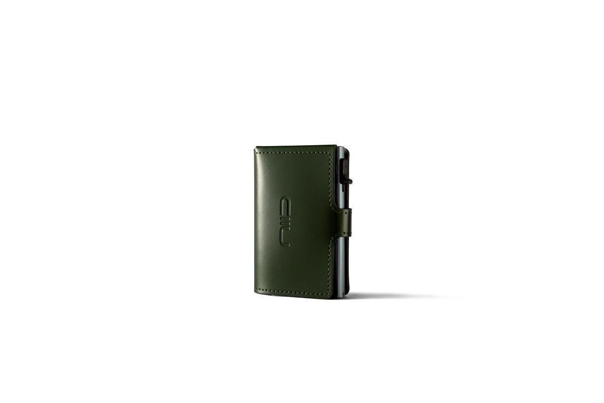 RFID Slide Mini Wallet Anti-scratch Genuine Leather 防盜刷真皮智慧卡夾 - 綠色