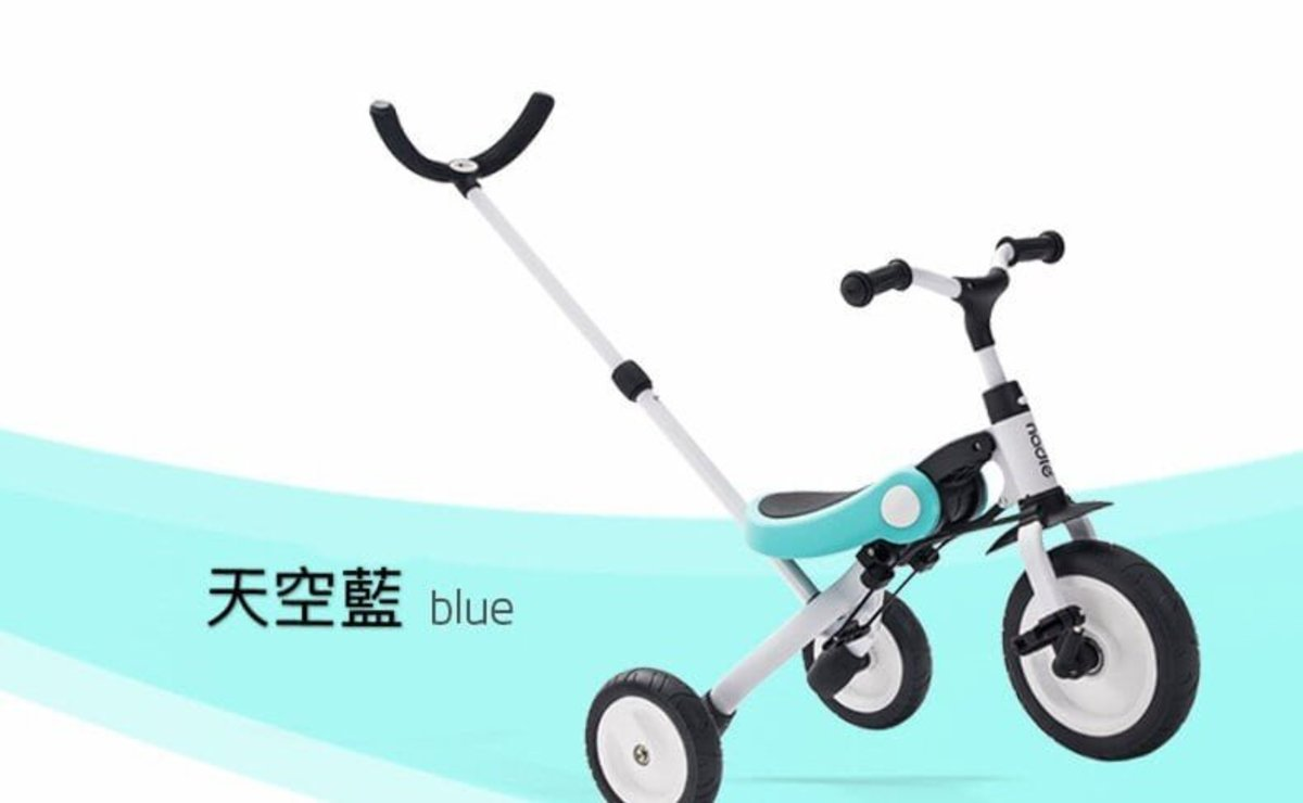 3-in-1 kids folding tricycle - Blue