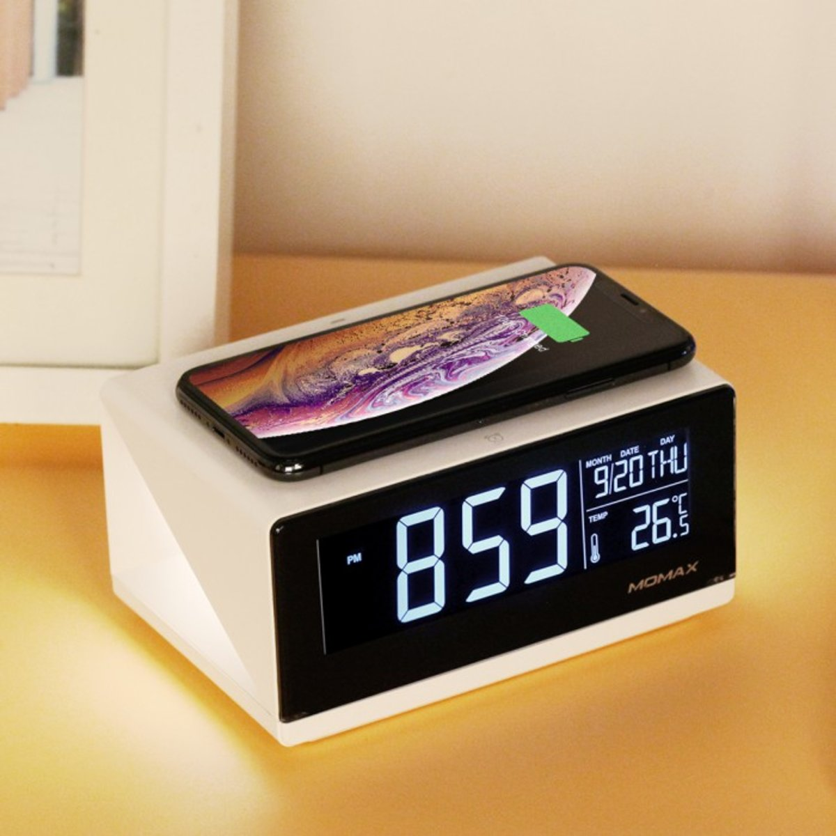 Q.Clock Digital Clock with Wireless Charger QC1