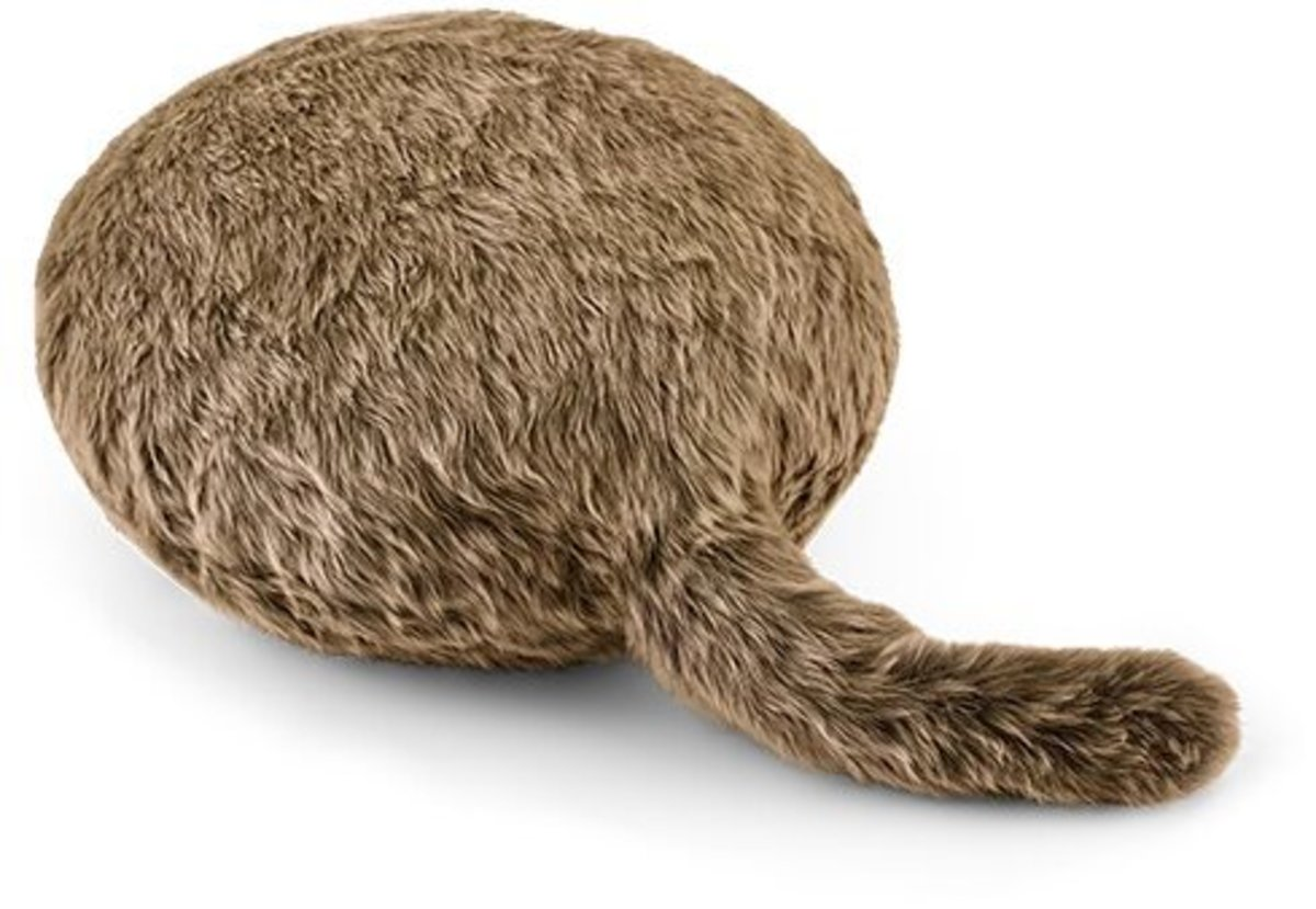 寵物型擺尾機械抱枕 - 法國棕色