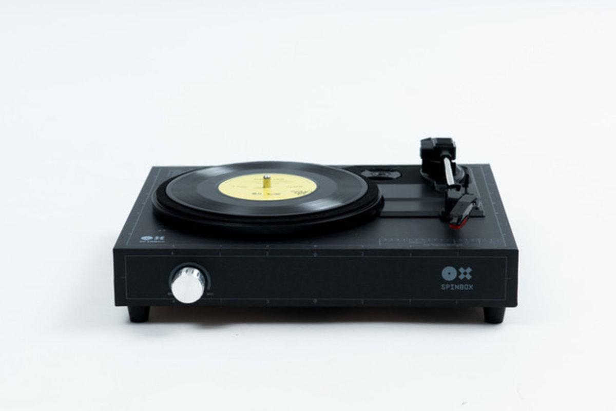 DIY 組裝手提黑膠唱片唱盤 - 黑色