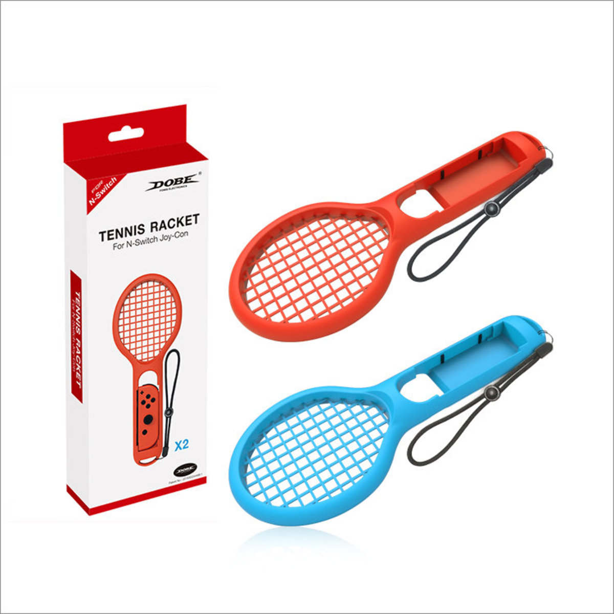 Joy-Con Tennis Racket For Nintendo Switch - Red & Blue