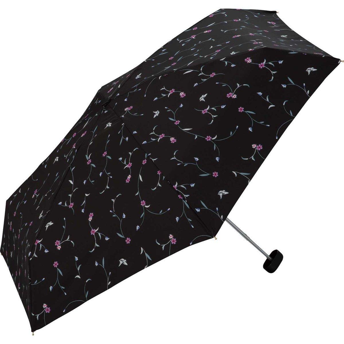 輕便精巧‧防UV‧6076伸縮雨傘 - 黑
