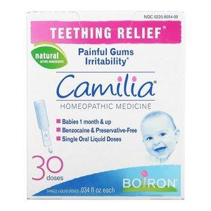 巴郎 【法國製】Boiron Camilia 嬰兒出牙舒緩劑 嬰兒口腔護理 緩解出牙痛 緩解牙齦疼痛  (獨立包裝30支) (1+M)