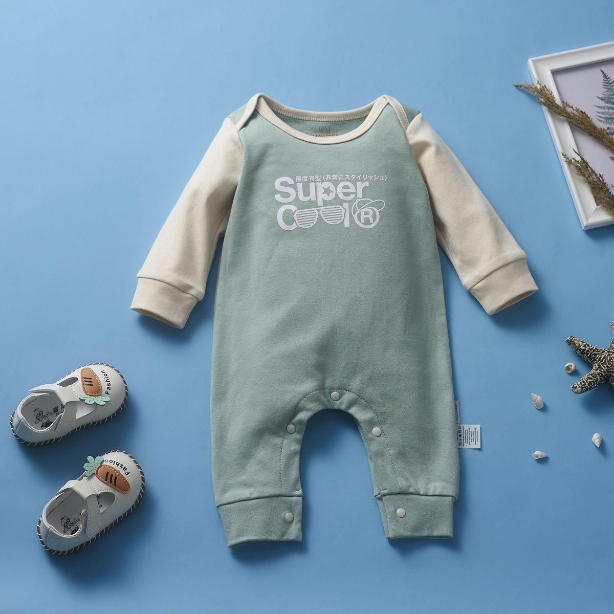 OMYMONSTER - Super Cool Long Sleeve Bodysuit 3-6 month