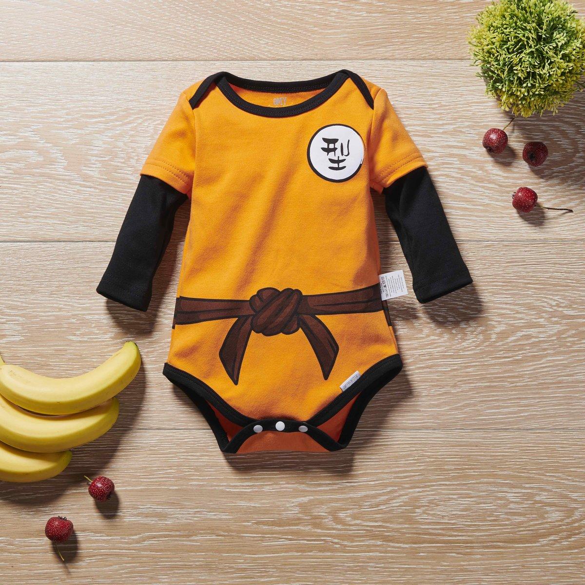OMYMONSTER - Goku Long Sleeve Bodysuit 3-6 month