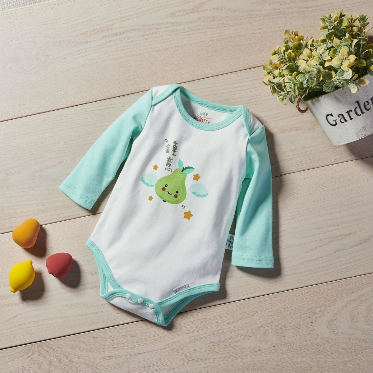 OMYMONSTER - Love you so much Long Sleeve Bodysuit 6-12 month