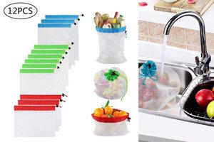 Minka 環保多用途網布袋 (12 個),可循環再用