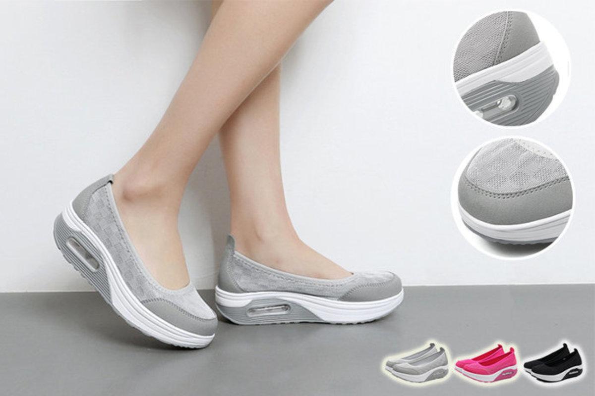 Grey Slip-On Rocker Shoes