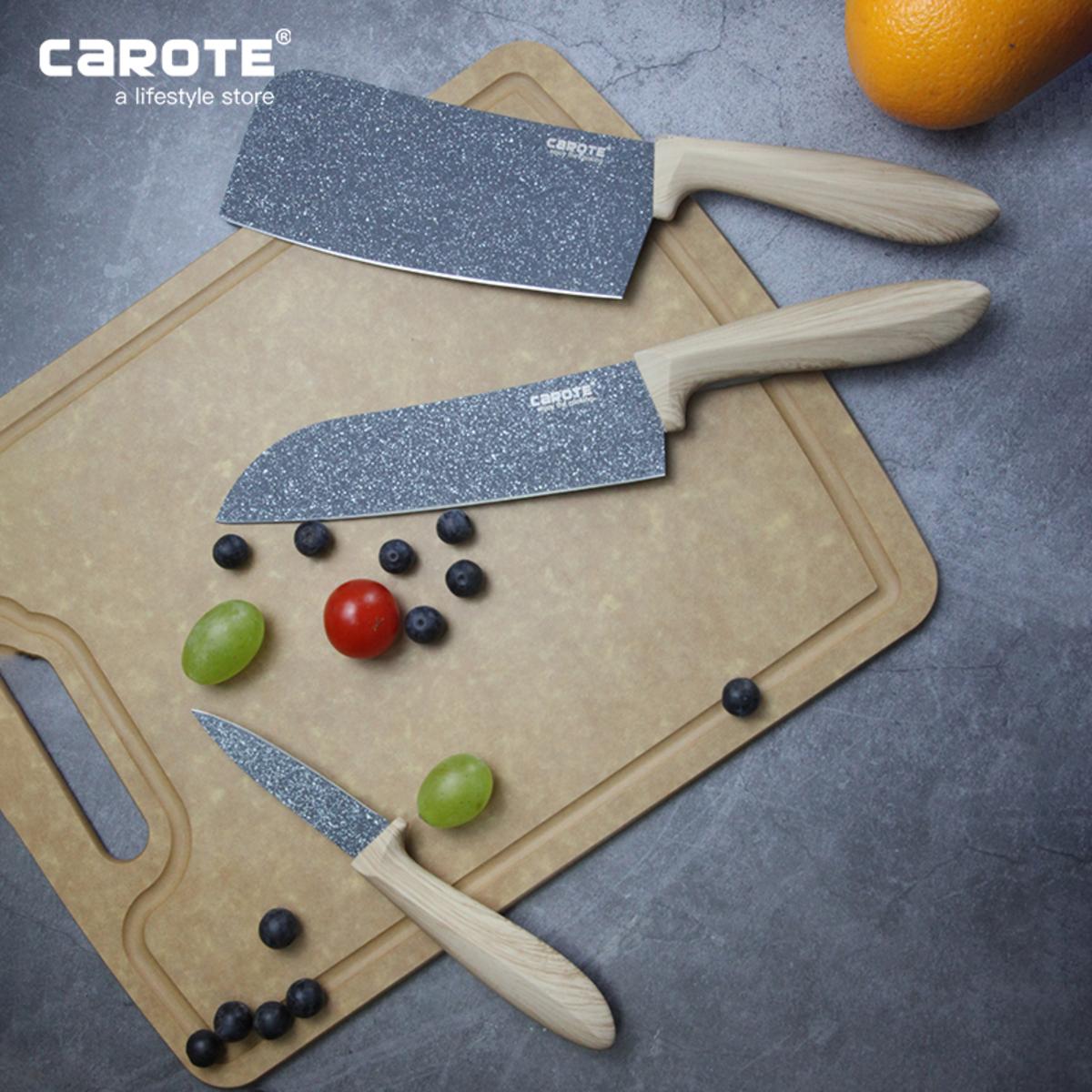 Carote │ 麥飯石菜刀廚房切肉切菜家用不銹鋼菜刀