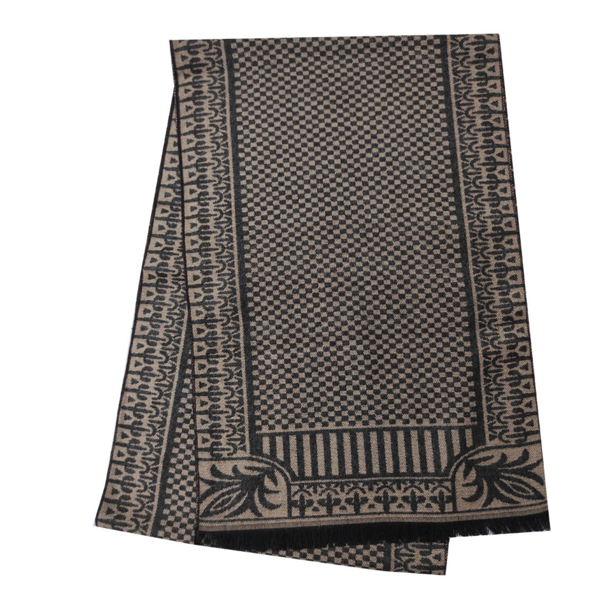 Men's autumn and winter warm fashion style fringed scarf  (BR30)