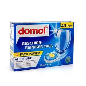 Domol 德國 Domol 洗碗機12合1黃金洗碗塊 (一盒40粒 ) (平行進口)